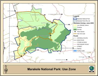 Marakele National Park Map