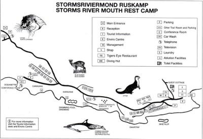 Tsitsikamma Storms River Mouth Map