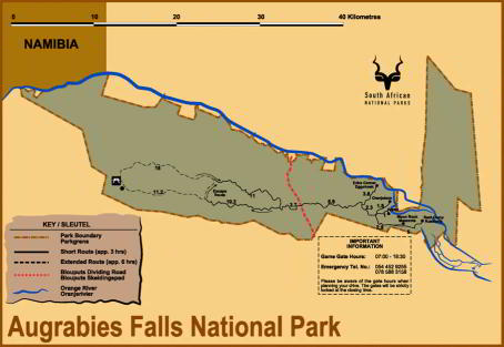 Augrabies National Park Map